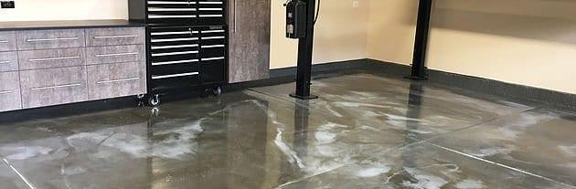 Marble Metallic Epoxy Garage Floors are HOT!