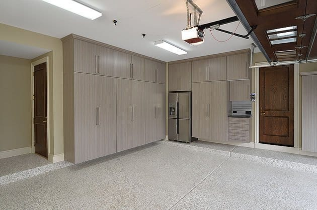 Garage Floor Coating and Cabinets in Chicago